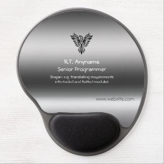 Programador, Phoenix, preto no efeito de aço Mouse Pad De Gel