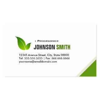 Programador - verde moderno elegante cartão de visita