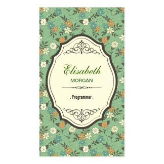 Programador - vintage elegante floral cartão de visita