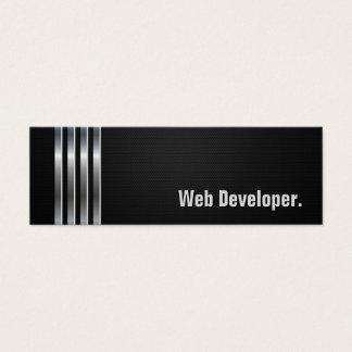 Programador web - listras de prata pretas cartão de visitas mini