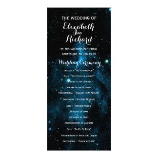 Programas azuis do casamento da galáxia panfleto