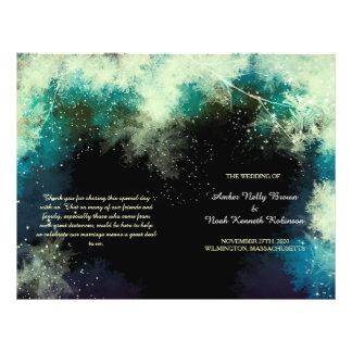 Programas BiFold do casamento Indie místico Flyer 21.59 X 27.94cm