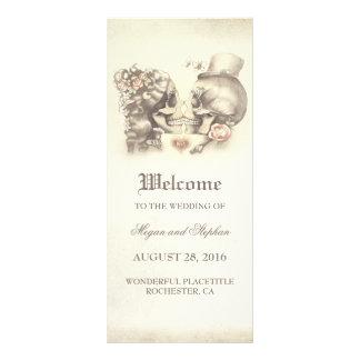Programas bonito mortais do casamento do casal do 10.16 x 22.86cm panfleto