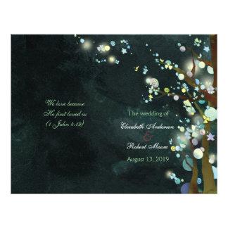 Programas bonitos da cerimónia de casamento da panfletos personalizado