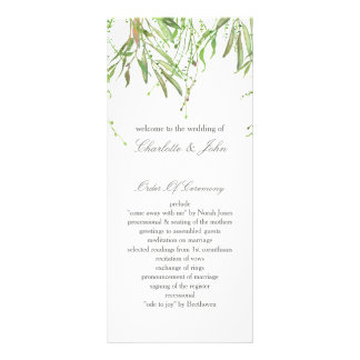 Programas botânicos do casamento das hortaliças 10.16 x 22.86cm panfleto