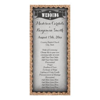 Programas cinzentos do casamento de serapilheira 10.16 x 22.86cm panfleto