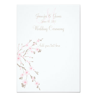 Programas da igreja do casamento da flor de convites