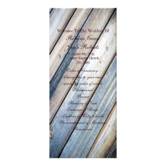 programas de madeira do casamento do país das 10.16 x 22.86cm panfleto