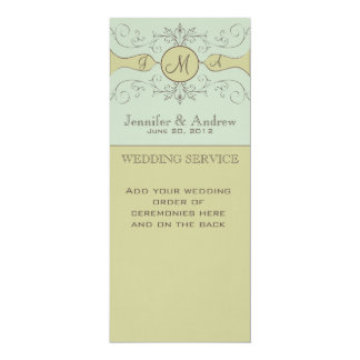 Programas de missa elegantes do casamento convites