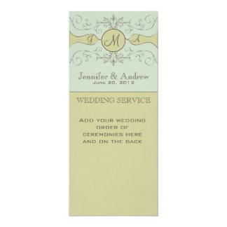 Programas de missa elegantes do casamento convite 10.16 x 23.49cm