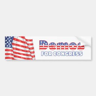 Programas demonstrativos para a bandeira americana adesivo