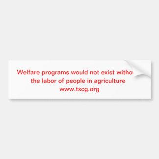 Programas do bem-estar adesivo para carro
