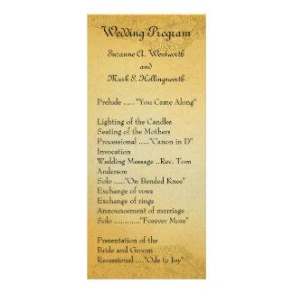 Programas do casamento da região vinícola 10.16 x 22.86cm panfleto