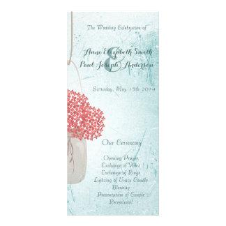 Programas do casamento do frasco de pedreiro da ce 10.16 x 22.86cm panfleto