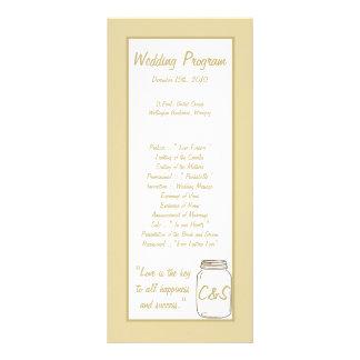 Programas do casamento do frasco de pedreiro de Br 10.16 X 22.86cm Panfleto