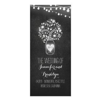Programas do casamento do frasco de pedreiro do 10.16 x 22.86cm panfleto