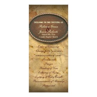 programas do casamento do país ocidental do 10.16 x 22.86cm panfleto