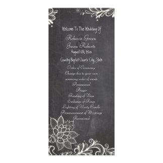 programas do casamento do quadro da tipografia do 10.16 x 22.86cm panfleto