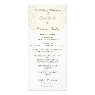 Programas do casamento do teste padrão do ouro do  planfetos informativos coloridos