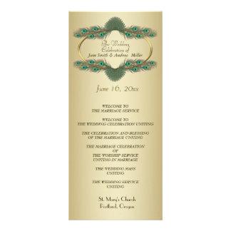 Programas do casamento - ouro panfletos informativos personalizados