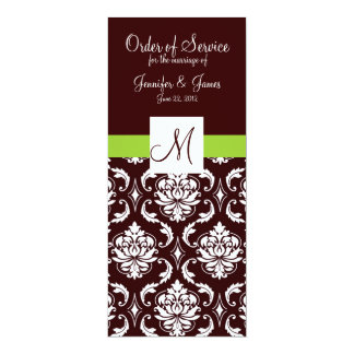 Programas elegantes da igreja do casamento tema convites personalizados