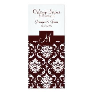Programas elegantes da igreja do casamento tema convite 10.16 x 23.49cm