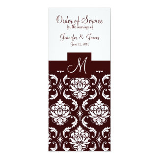 Programas elegantes da igreja do casamento tema convite