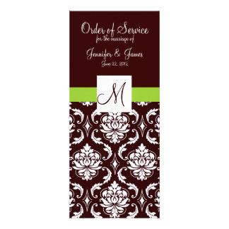 Programas elegantes da igreja do casamento tema da convites personalizados