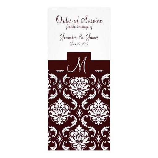 Programas elegantes da igreja do casamento tema da convite
