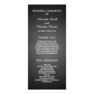 Programas elegantes simples do casamento do quadro panfletos informativos