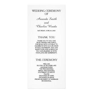 Programas elegantes simples do casamento panfleto personalizado