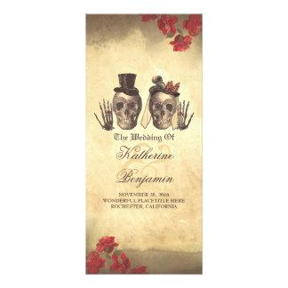 Programas góticos agradáveis mortais do casamento 10.16 x 22.86cm panfleto