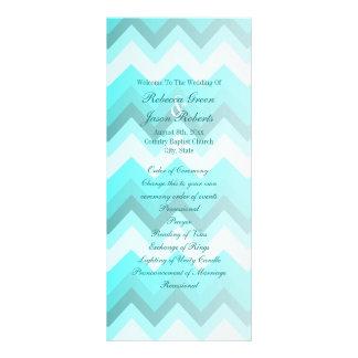 programas modernos do casamento da viga de 10.16 x 22.86cm panfleto