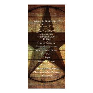 programas ocidentais de madeira rústicos do 10.16 x 22.86cm panfleto