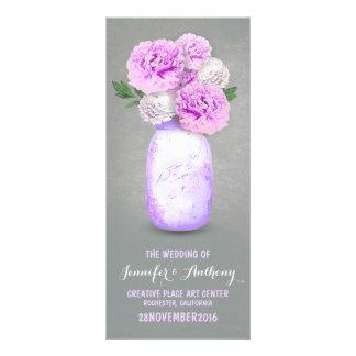 Programas pintados do casamento do frasco de pedre panfletos informativos personalizados