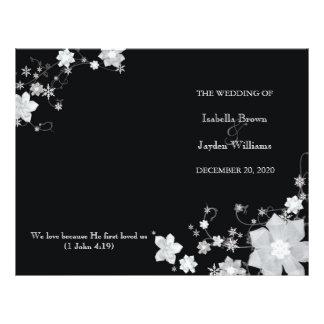Programas pretos & brancos da dobra do Bi do casam Modelos De Panfleto