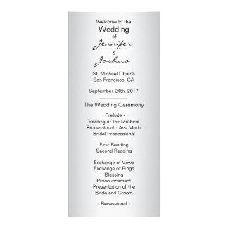 Programas pretos de prata feitos sob encomenda 10.16 x 22.86cm panfleto
