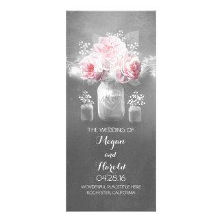 Programas rústicos do casamento do frasco de 10.16 x 22.86cm panfleto