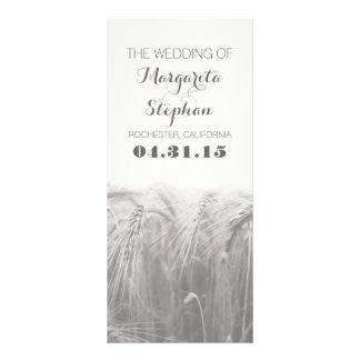 programas rústicos do casamento do país 10.16 x 22.86cm panfleto