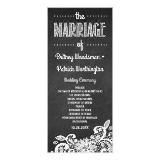 Programas rústicos do quadro e do casamento do 10.16 x 22.86cm panfleto