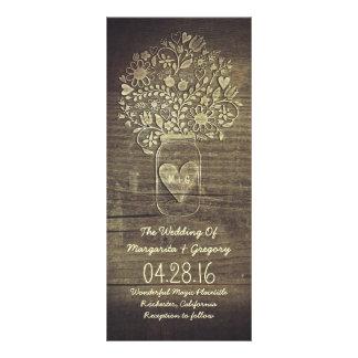 programas rústicos florais do casamento do frasco 10.16 x 22.86cm panfleto