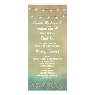 Programas tropicais do casamento do Seashell da 10.16 X 22.86cm Panfleto