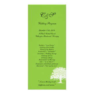 Programas verdes/brancos da árvore de 25 primavera panfletos informativos