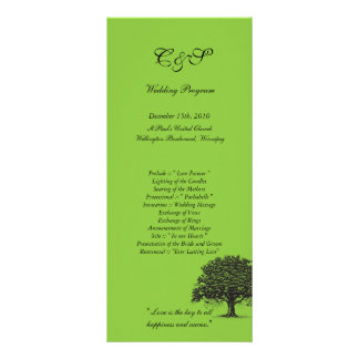 Programas verdes/pretos da árvore de 25 primaveras panfletos informativos personalizados