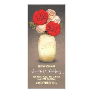 programas vermelhos pintados ouro das flores do 10.16 x 22.86cm panfleto