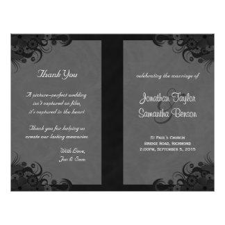 Programas Wedding dobrados do hibiscus gótico Panfletos Personalizado