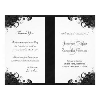 Programas Wedding dobrados do hibiscus gótico Flyer 21.59 X 27.94cm
