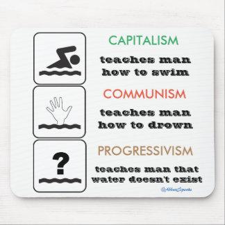 Progressivism Mousepad do comunismo do capitalismo