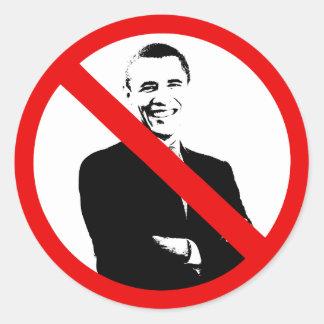 Proibição Obama - anti Obama Adesivo