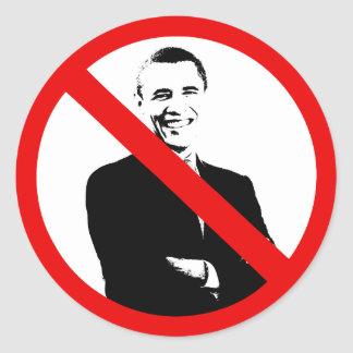 Proibição Obama - anti Obama Adesivos Redondos